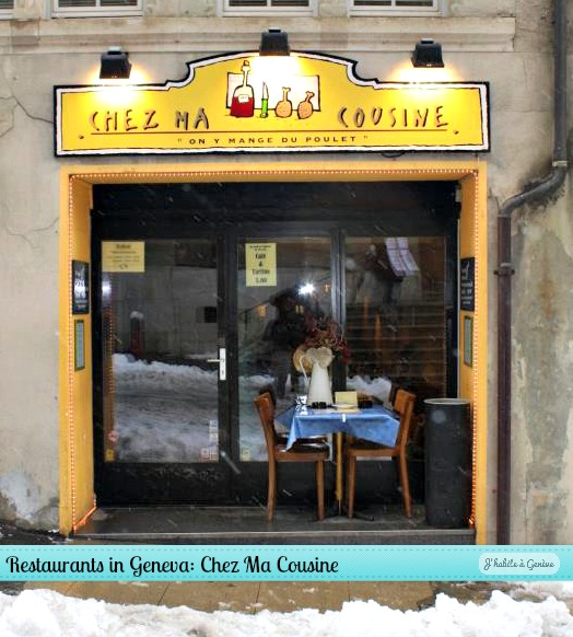 Restaurants in geneva chez ma cousine j 39 habite gen ve - Chez ma cuisine geneve ...