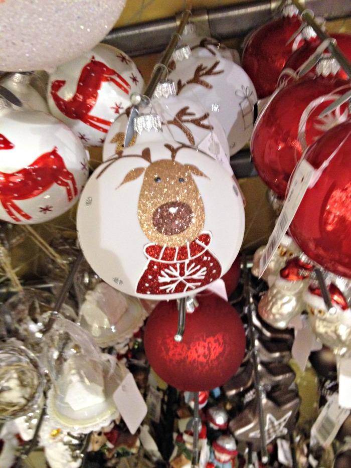 Christmas decoration: rendeer ball at Manor.
